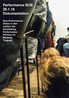 Unter Stühlen durch am Symposium «Performance Process — From Life to Legacies: Exploring Performance Art»